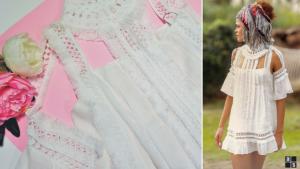 Vestido Highly Preppy Blanco. Ángela Serrano