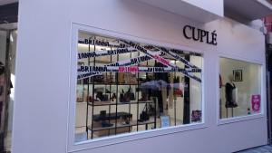 Vista exterior nueva tienda Cuplé Jaén